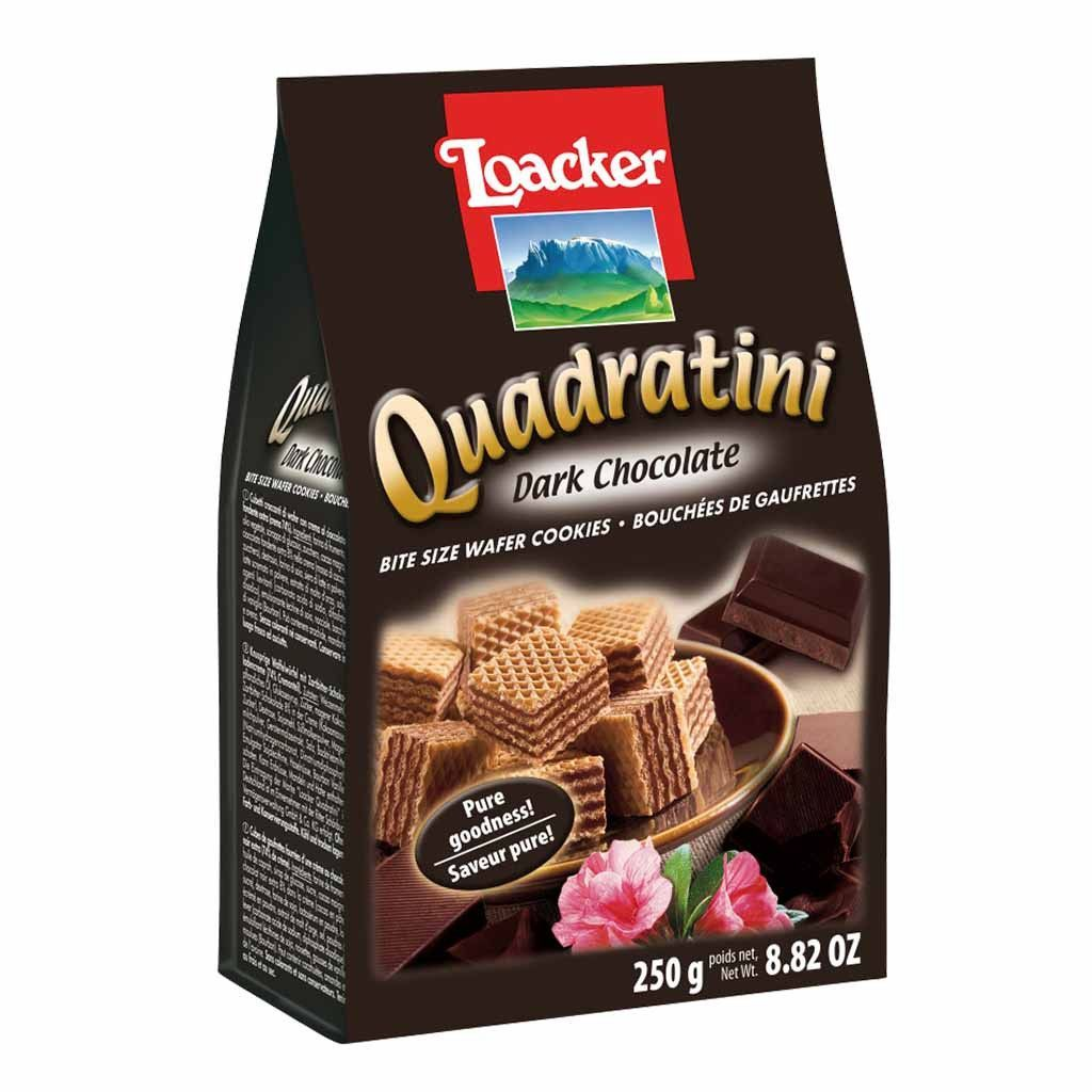 Quadratini Dark Chocolate Wafer Cookies by Loacker 8.8 oz ...