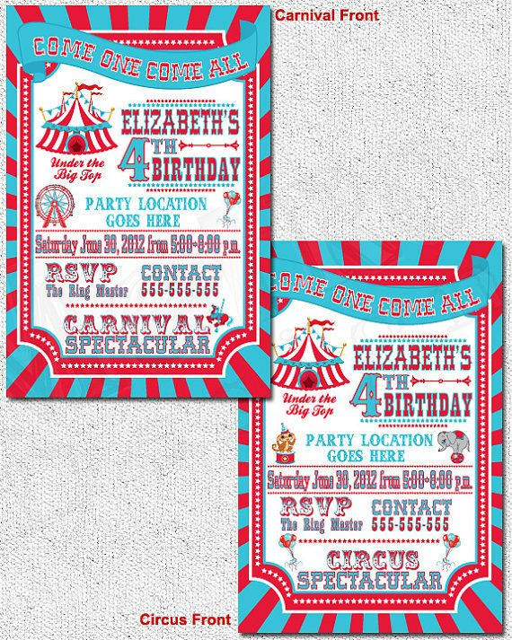 1000+ images about Carnival Invitations on Pinterest | Carnival ...
