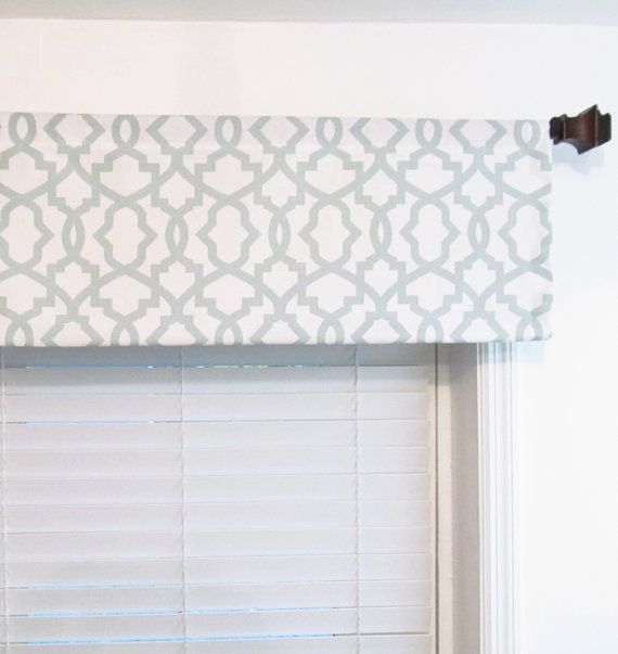 made to order window valance sheffield snowy blue gray navy geometric curtains