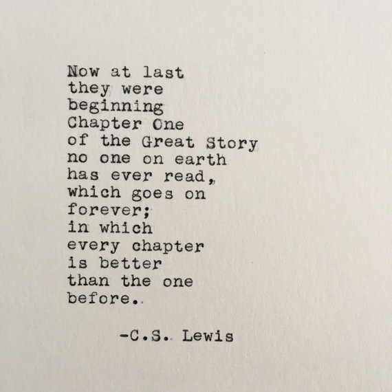Cs Lewis Quotes On Love C.S. Lewis Love Quote (Chronicles of Narnia) Typed on Typewriter  Cs Lewis Quotes On Love