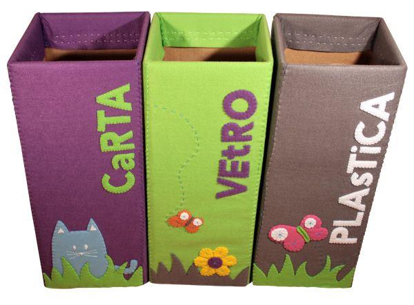 Contenitori raccolta differenziata set raccolta differenziata recycling bins recycling e diy - Contenitori raccolta differenziata per casa ...
