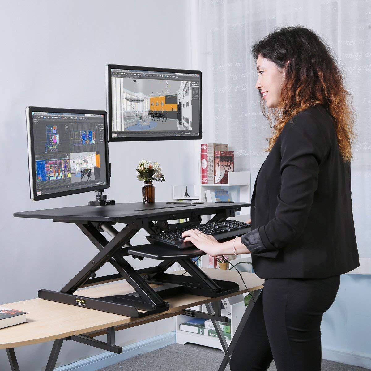 Langria Electric Standing Desk Height Adjustable Stand Up Desk