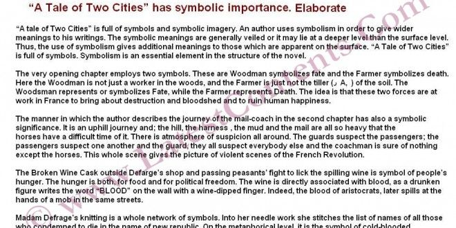 Symbolism In A Tale Of Two Cities Is In Abundance Is It A