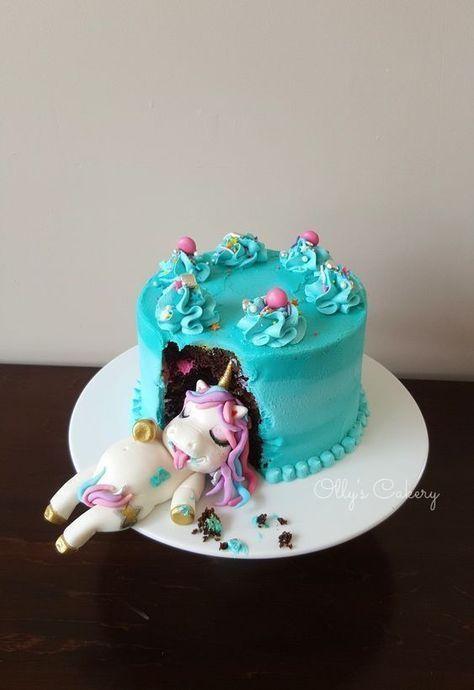 Feinschmeckerischer Einhornkuchen – #cupcakes – Lustige Hochzeitstorten – #Cakes … – Einrichtungsideen