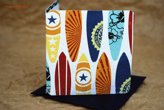 Blank Mini Card Set of 10 Cool Surfboard Design with by mad4plaid, $5.00