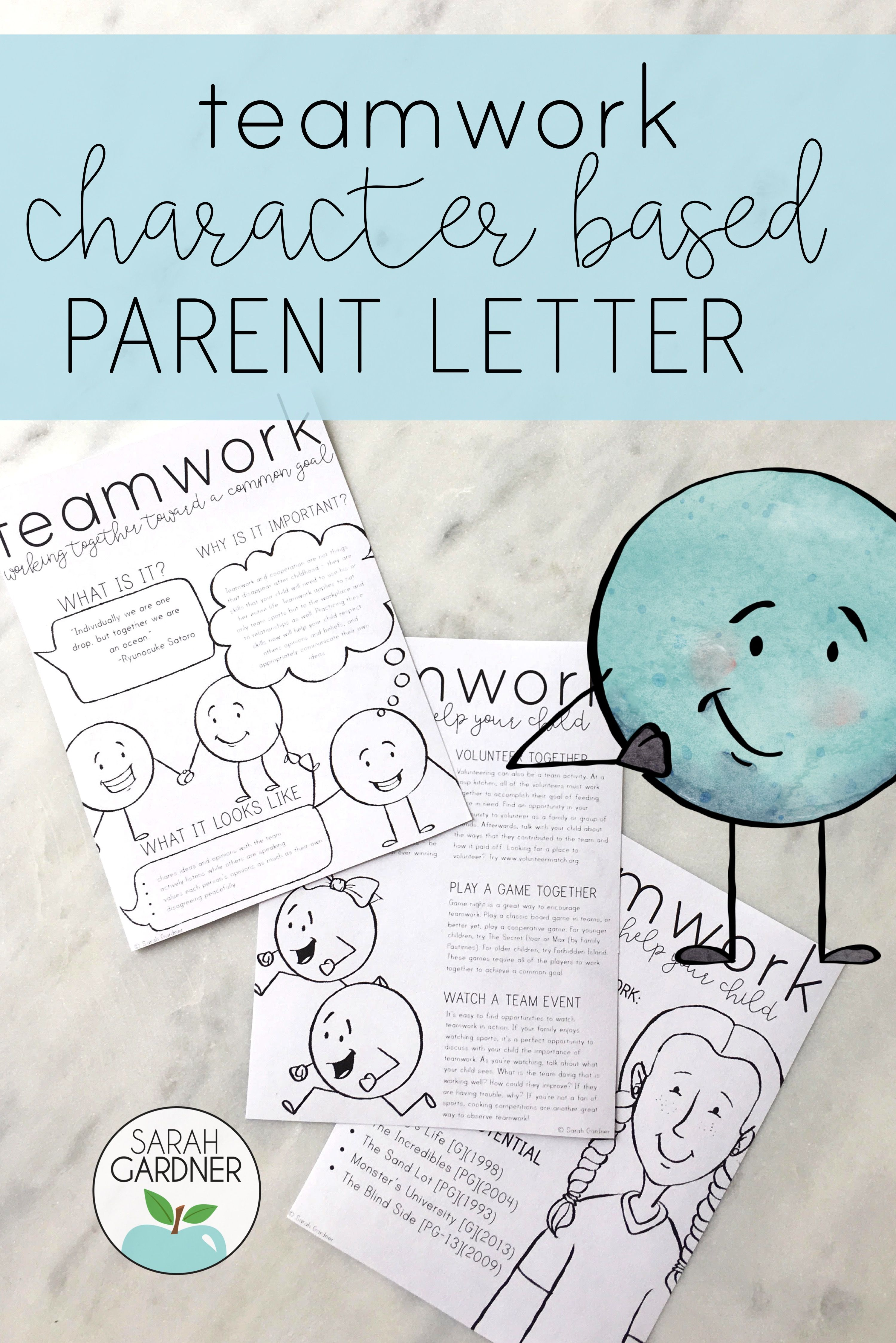 Teamwork Parent Letter