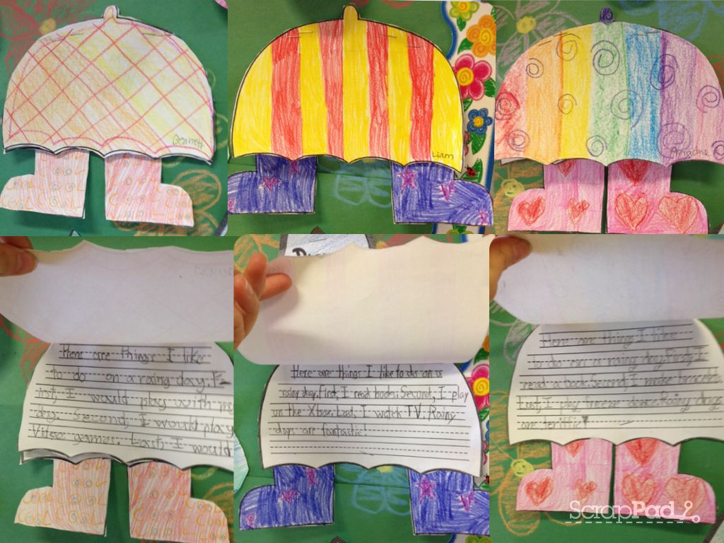 Things We Like To Do On A Rainy Day Students Wrote About