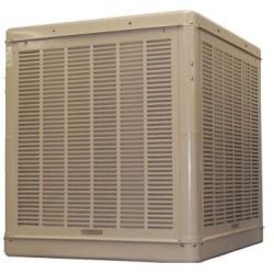 Whole House Evaporative Coolers Champion Cooler 4900 Cfm Down Draft Roof Wall Evaporative Cooler For 1800 Sq Ft Motor Evaporative Cooler Swamp Cooler Home