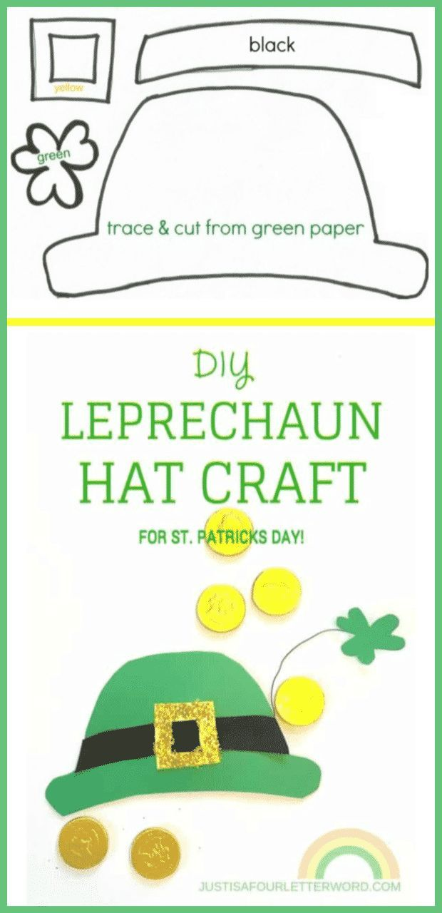 Make this DIY Leprechaun Hat Craft with your kids or class! Great for St. Patric…