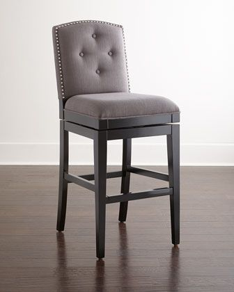 pepperton tufted swivel stools at horchow grey bar