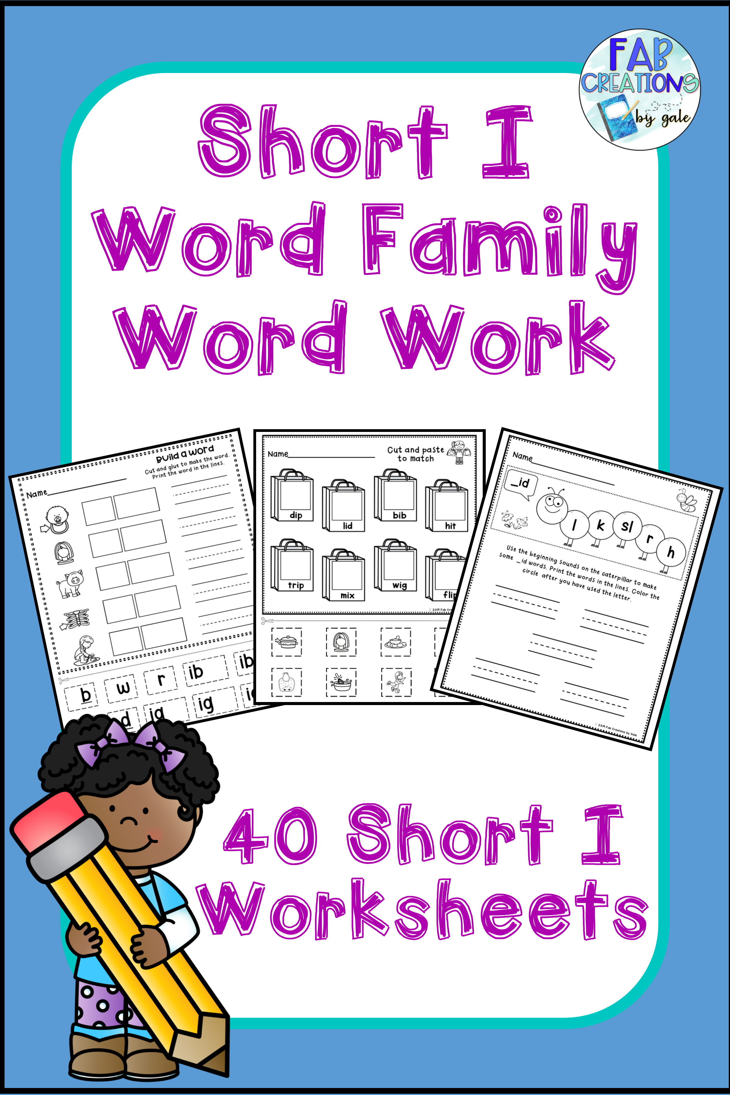 Short I Cvc Word Family Worksheets