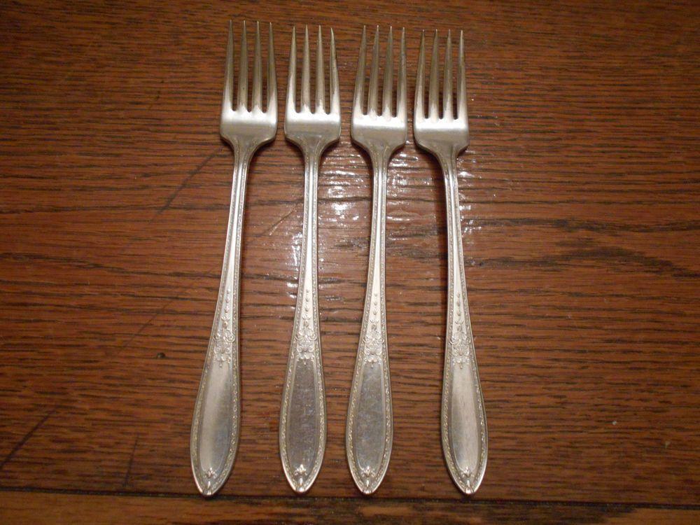 details about 4 rogers 1925 triumph pattern grille or viande forks