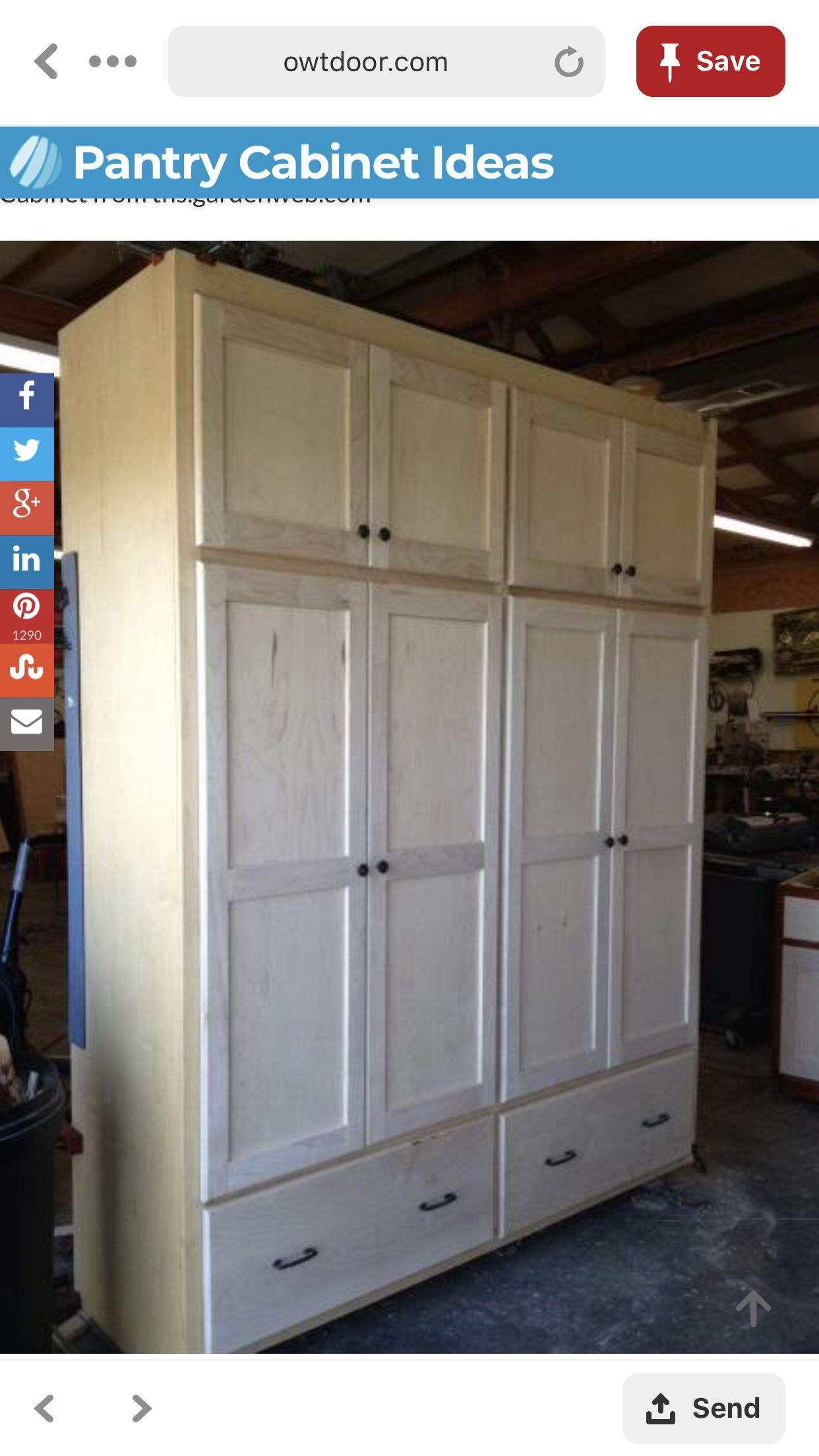 Pin By Nick Keaton On Build This In 2020 Farmhouse Pantry Farmhouse Pantry Cabinets Pantry Cabinet