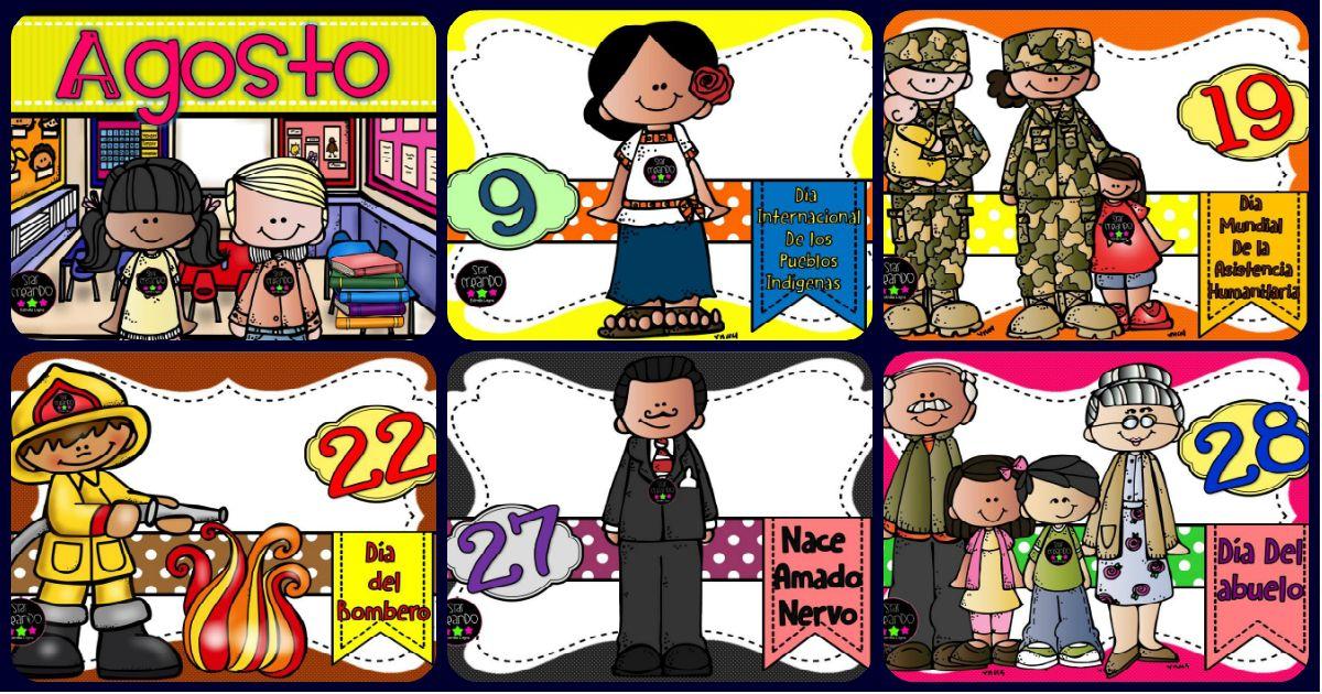 Tarjetas Imprimibles Efemerides Mes De Agosto Efemerides Mes De Octubre Periodico Mural Imagenes Educativas