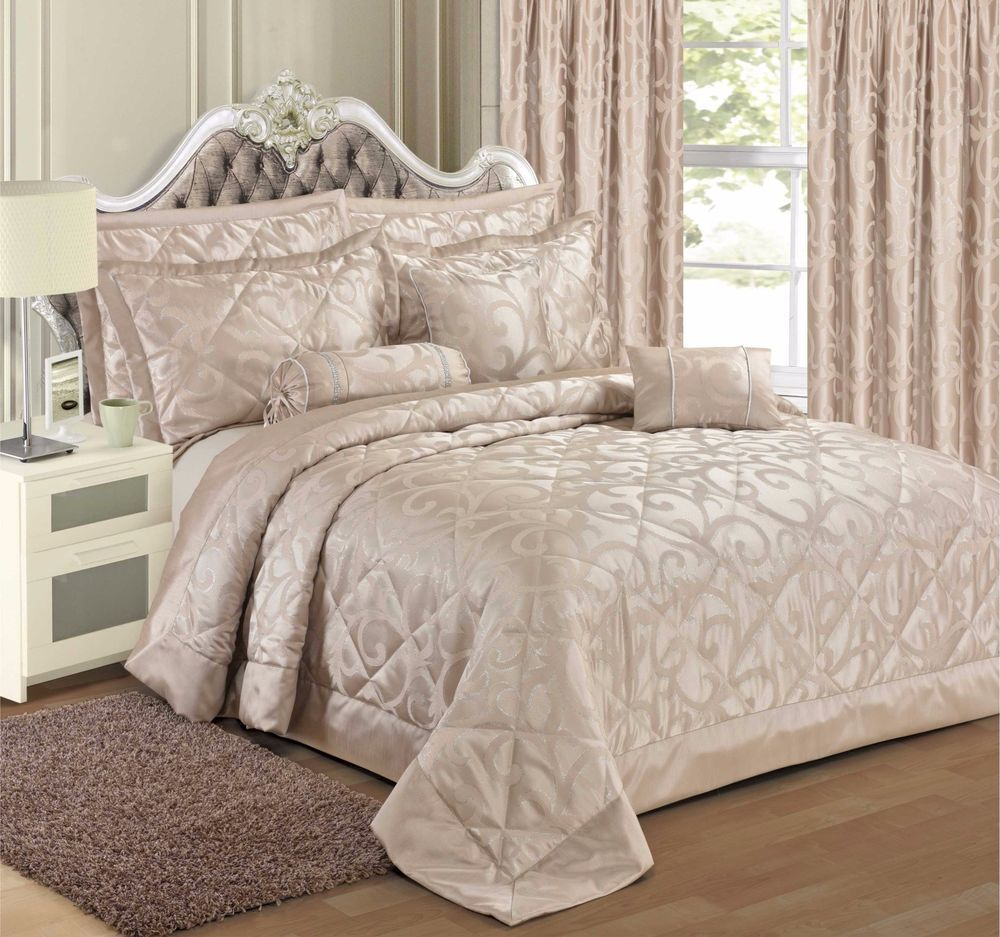 Details about Jacquard Natural Bedding Duvet Cover Set
