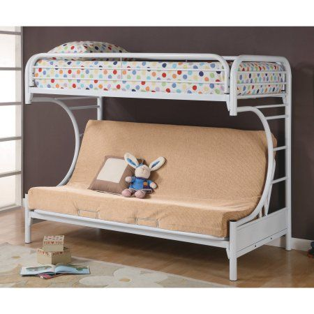 Coaster C Style Twin Over Full Futon Bunk Bed White