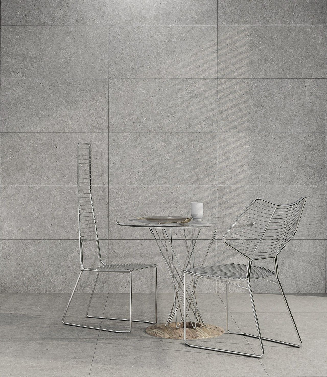 Azulejos by Living Ceramics, project by C. Renau, renderizado con V-Ray