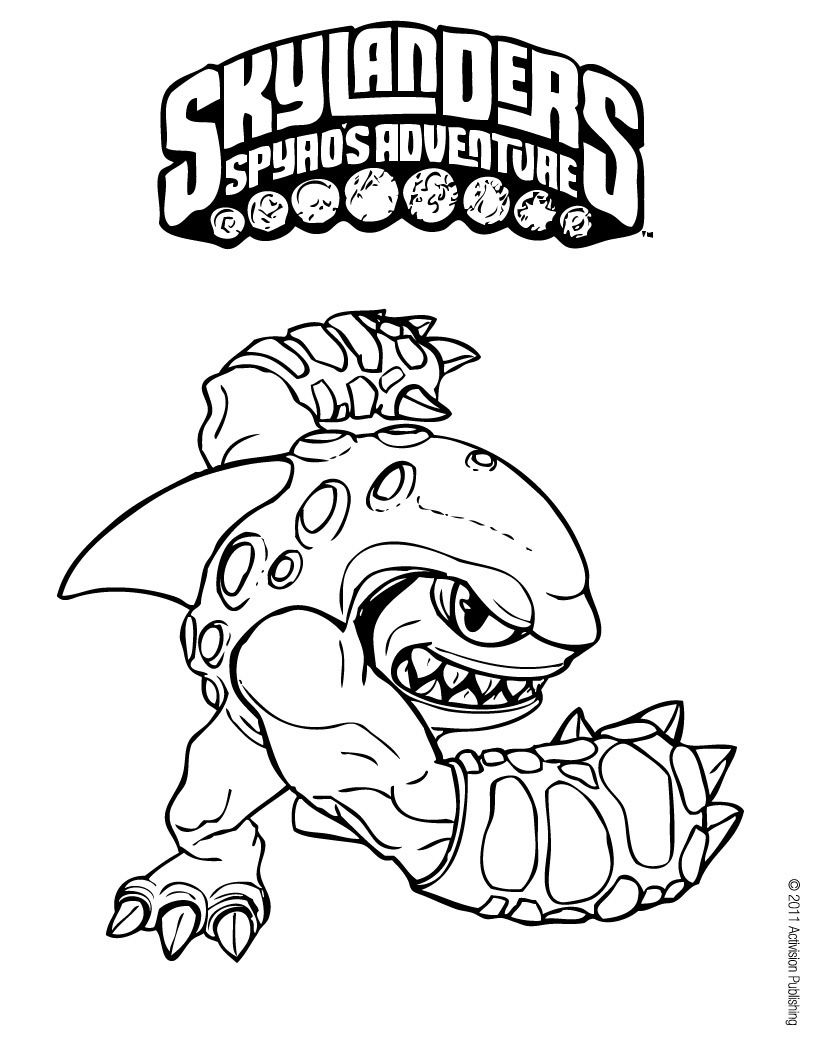 Skylanders Coloring Page :: Terrafin | Ideas for the House ...