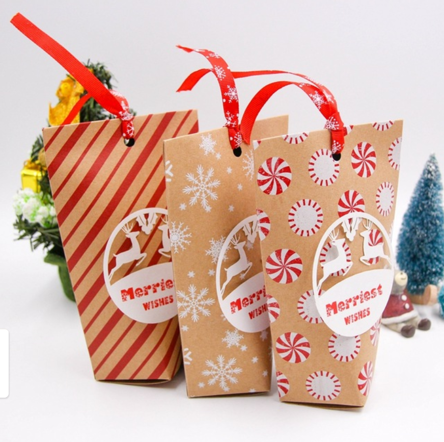 Buy Now 3 72 10pcs Lot Merry Christmas Candy Gift Boxes Deer Xmas Tree Guests Packaging Boxes Gift Bag Chr Christmas Candy Gifts Candy Gift Box Christmas Bags