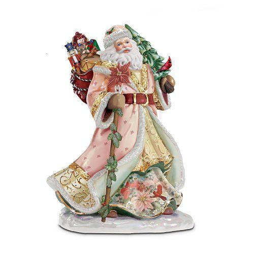 Lena Liu S Heirloom Porcelain Santa Claus Seasonal Splendor Figurine By The Bradfo Victorian Christmas Christmas Crafts Decorations Pink Shabby Chic Christmas