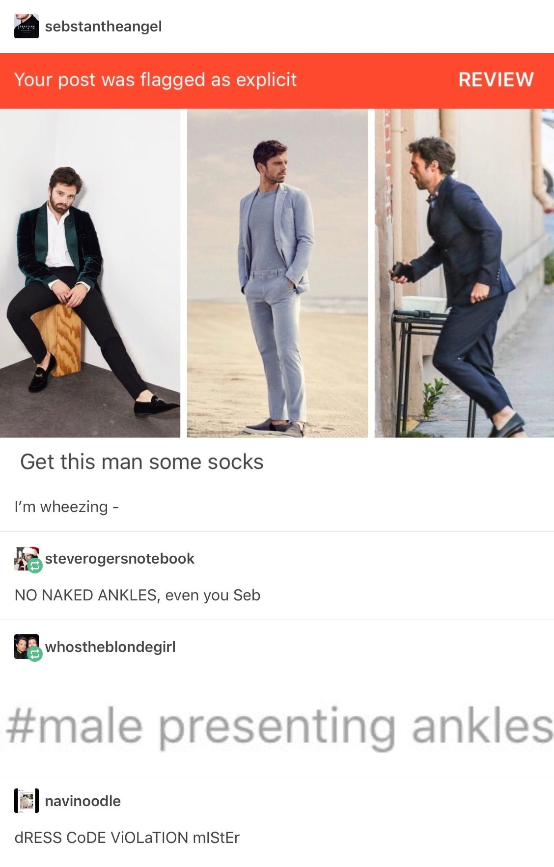 Sebastian Stan ankles | Marvel Cineverse | Marvel tumblr