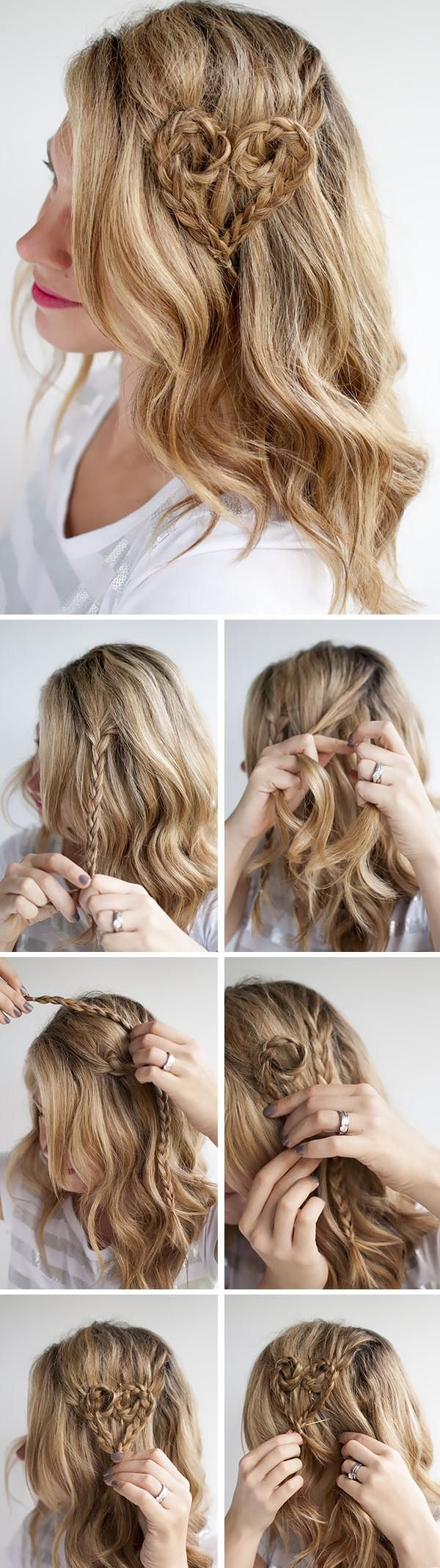 Step By Step Easy Selfmade Hairstyles  Valentine hair, Hair