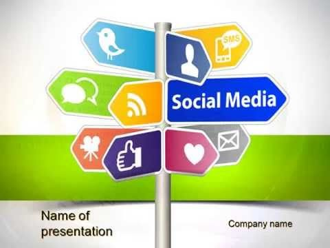 Social Media Signs Powerpoint Template  Youtube HttpWww