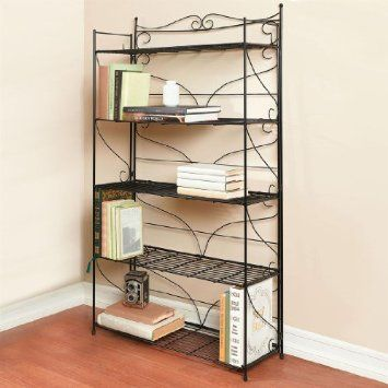 Brylanehome Wrought Iron Bookcase Black 0