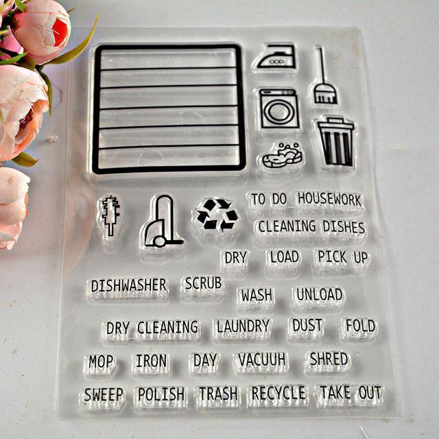 Sellos de silicona transparente Palabras YAOYAN ingl/és transparente sellado sello de silicona DIY Scrapbooking gofrado /Álbum de Fotos sellos transparentes para la fabricaci/ón de la tarjeta