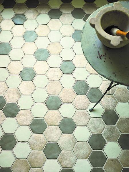 Hexagon Tiles In Metallic And Gray Hues Www Tabarkastudio Com