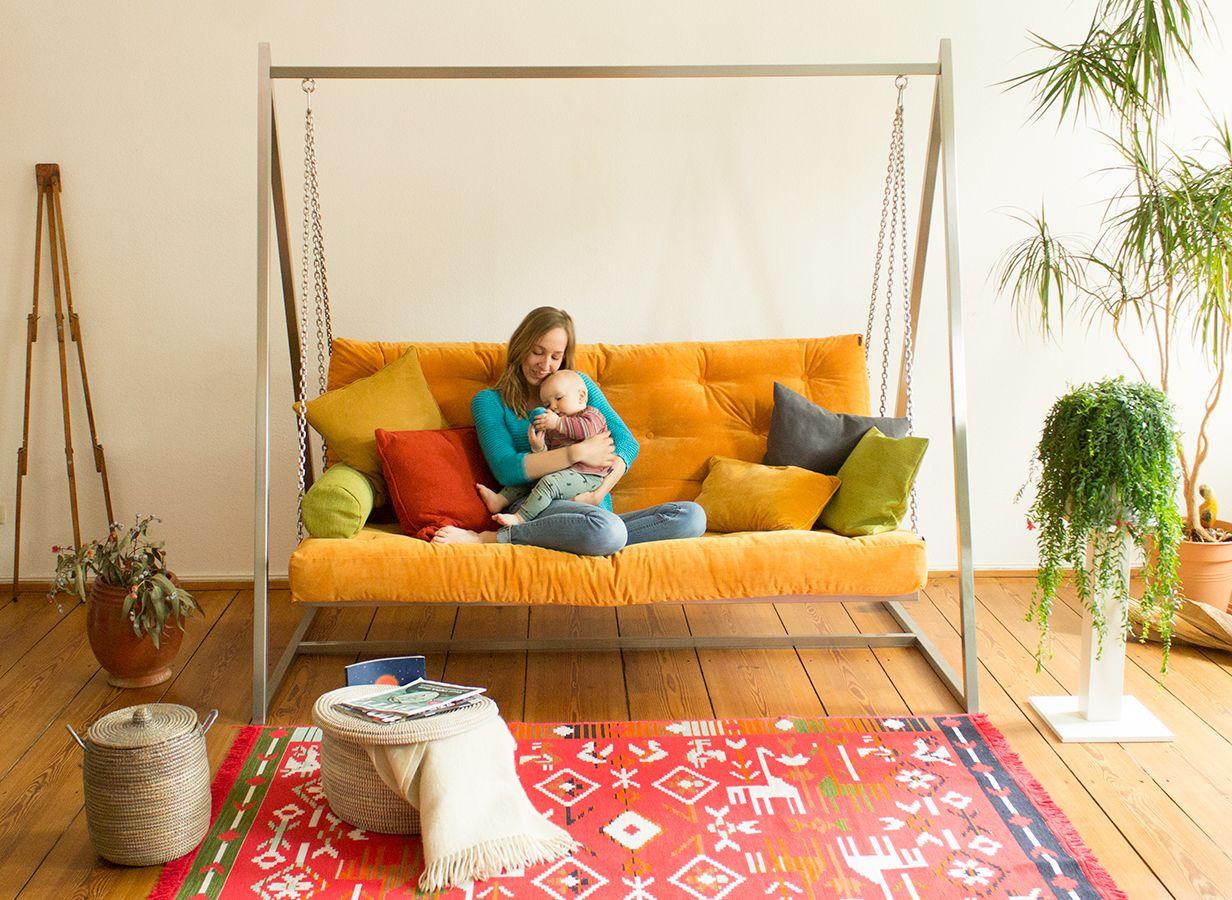 Schaukel Wohnzimmer ~ Eine einzigartige ruheoase für mama und baby im wohnzimmer das