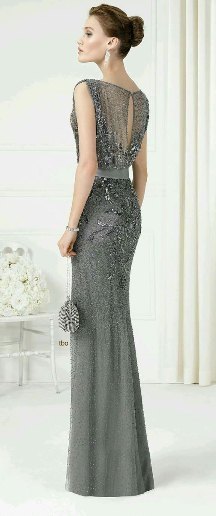 5748d7118 Vestido gris de noche