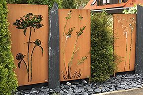 cortenstahl sichtschutz online kaufen metallbau garten pinterest garden. Black Bedroom Furniture Sets. Home Design Ideas