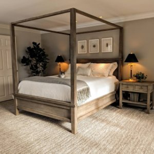Farmhouse Canopy Bed, King, Espresso stain Pottery Barn