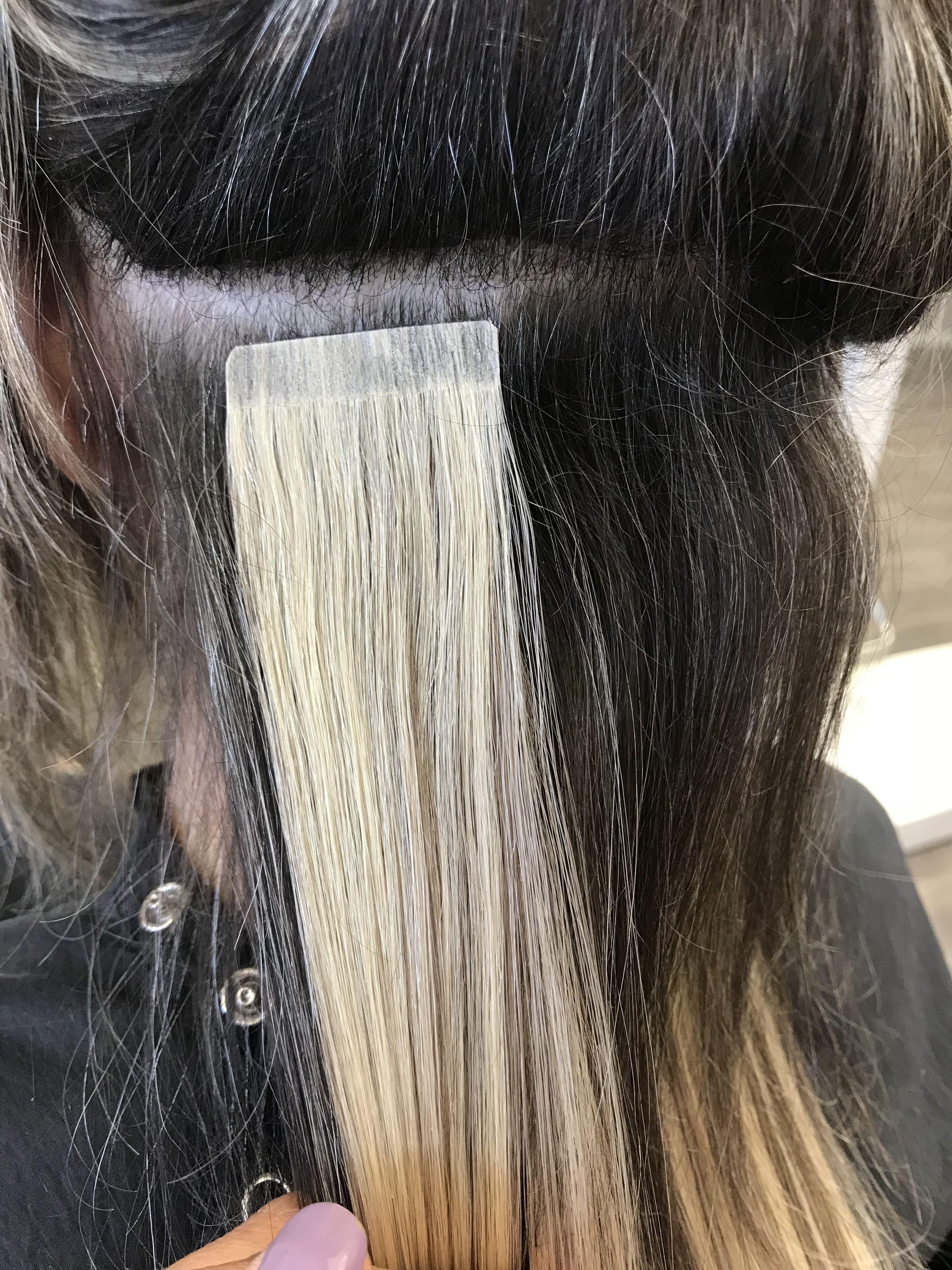 Tape In Hair Extensions Hairtalk Houston Texas Bri Davila Hair