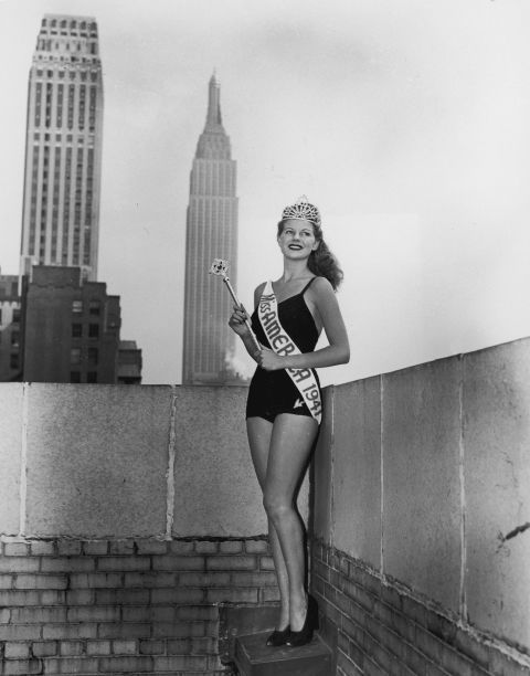 In 1941, Miss America Rosemary Laplanche of Los Angeles got to leave the boardwalk and enter the land of skyscrapers.