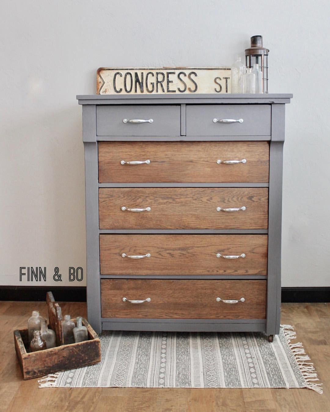 Refinished Empire Dresser General Finishes In Driftwood