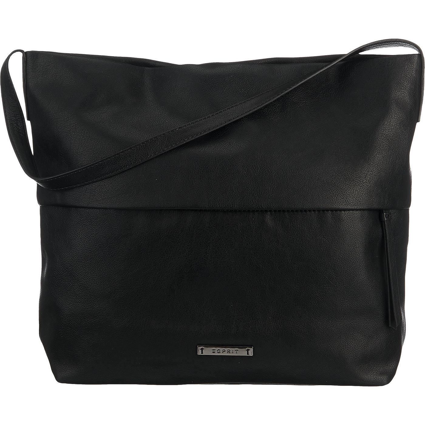 Diese ESPRIT Handtasche ist klassisch-elegant gestaltet. Unter der Blende befindet sich ein praktisches Außenfach.  - Verschluss: Reißverschluss - 1 Hauptfach - 3 Innenfächer - Maße: 34 x 34 x 11 cm (BxHxT)  Obermaterial: Sonstiges Material (Kunstleder) Futter: Textil ...