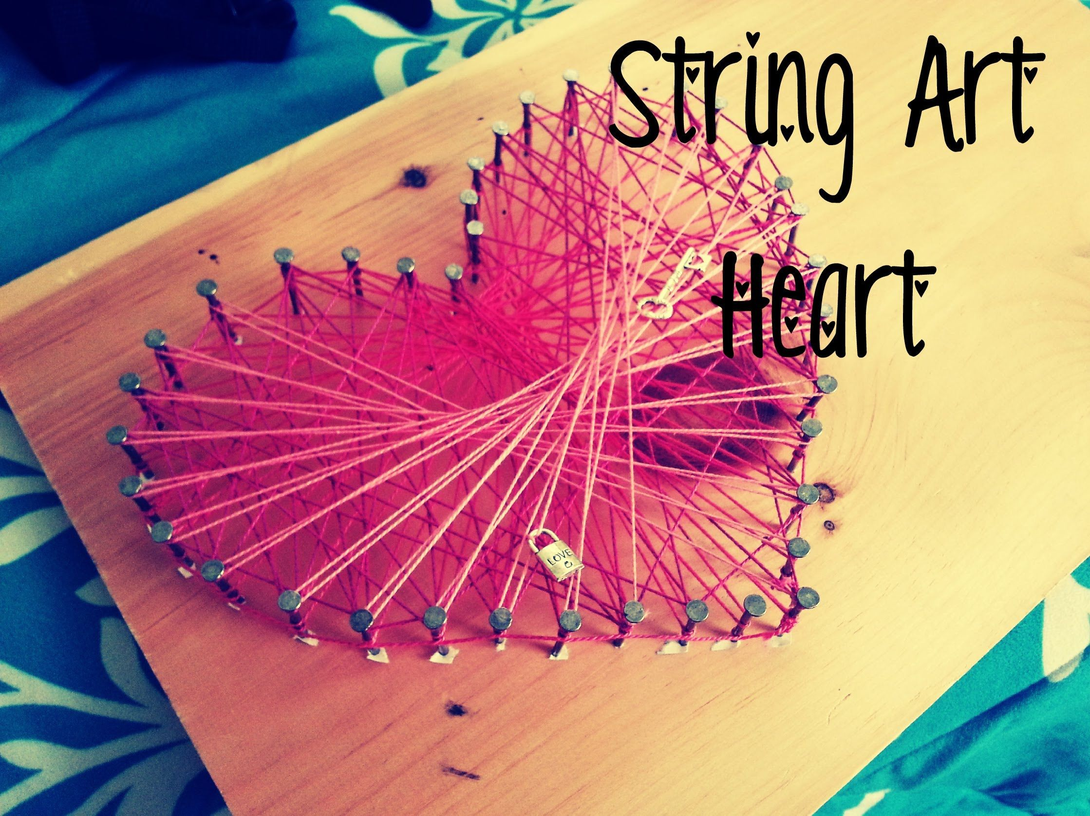 String art heart youtube diy and crafts pinterest string art string art tutorial an easy art project for kids baditri Image collections
