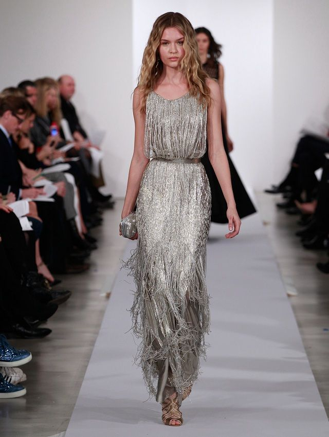 Love the fringe and sequin - it's a mixture between 1920's jazz age and disco fever