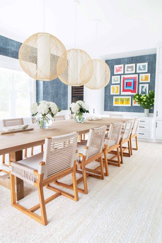 Breezy Beachfront Family Retreat With Timeless Interiors On Long Island Ny Luxury Dining Room Dream Dining Room Dining Room Design