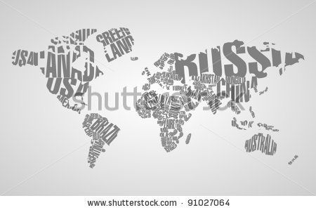 World in typo httpimageutterstockdisplaypicwithlogo world map wallpaper map mural and atlas wall murals gumiabroncs Images
