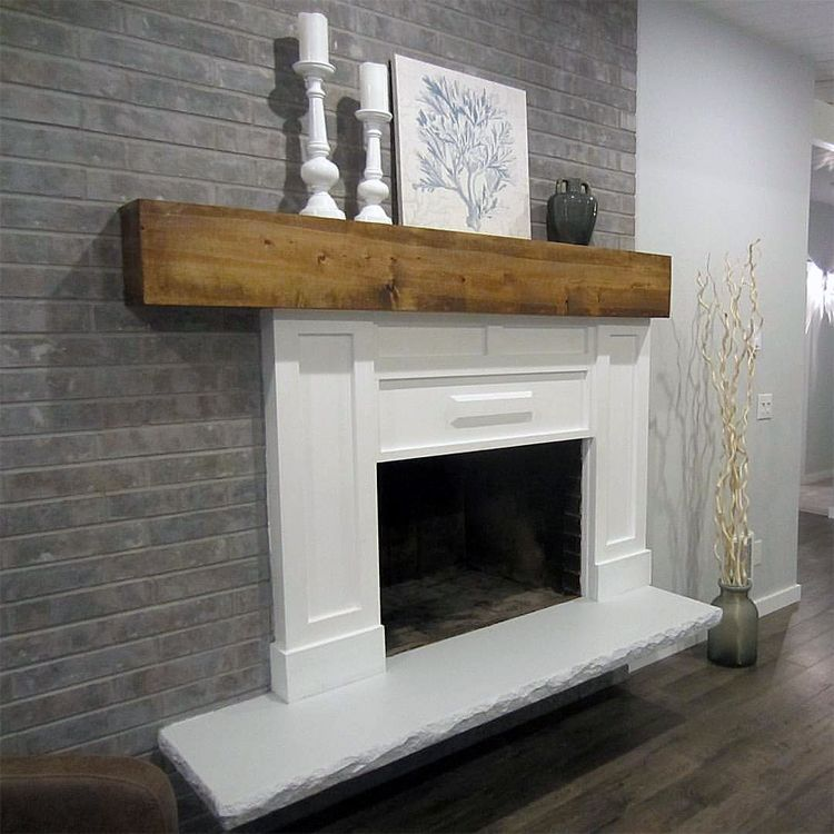 Grey Paint Wash On A Brick Fireplace Before After Projects To