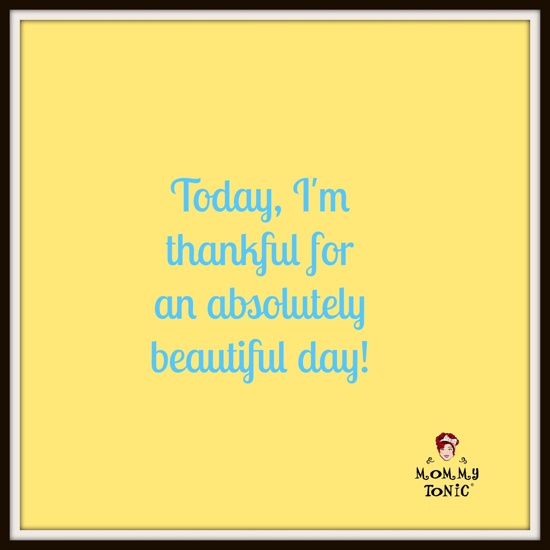 Today, I'm thankful for an absolutely beautiful day! What are you #thankful for?