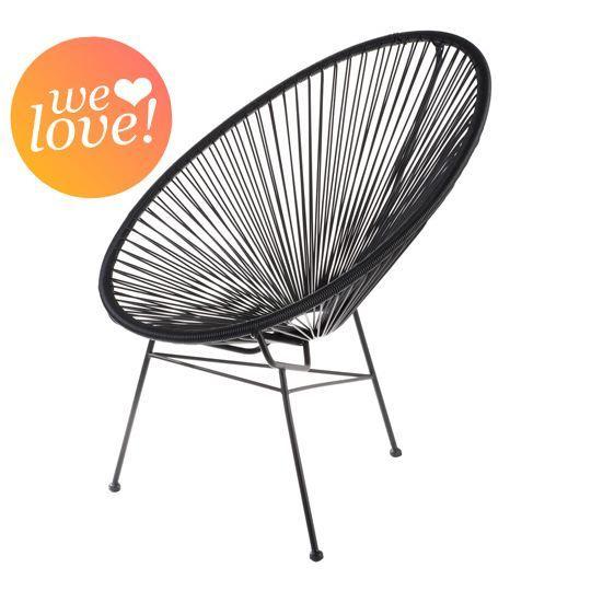 fauteuil acapulco noir achat vente chaise fauteuil jardin noir cdiscount 85 mon ideal. Black Bedroom Furniture Sets. Home Design Ideas