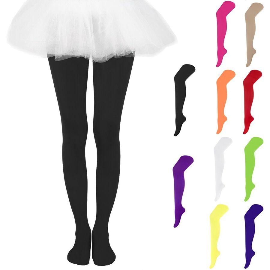 Girls Kids Gymnastics Ballet Dance Leotard Tights Pantyhose Long Stockings Socks