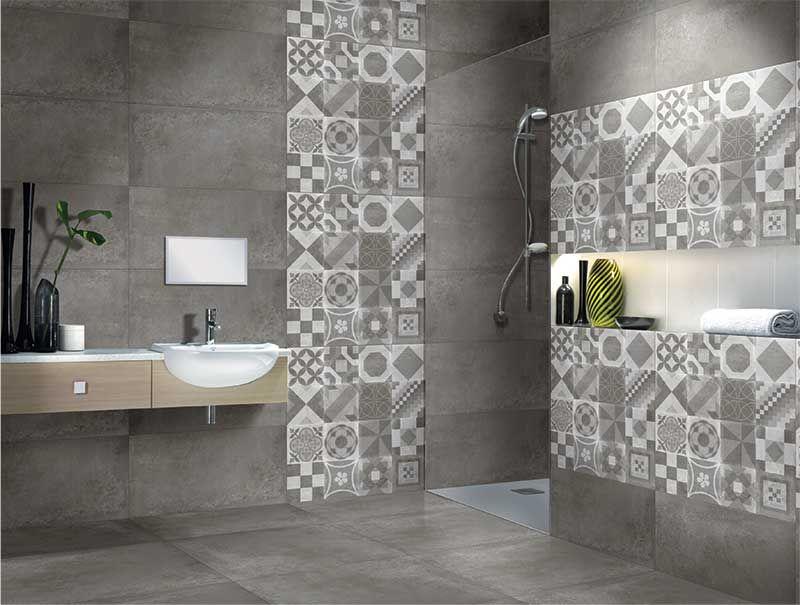 Munich Gris 40x80 Cm Glazed Vitrified Tiles Arredamento Bagno Progettazione Bagno Arredamento Piccolo Bagno