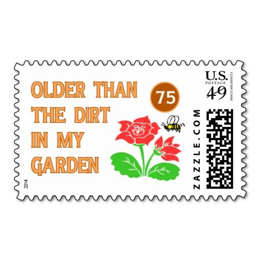 Birthday Return Gifts Funny Gardeners 75th Stamps Parties Party Invitations Invites