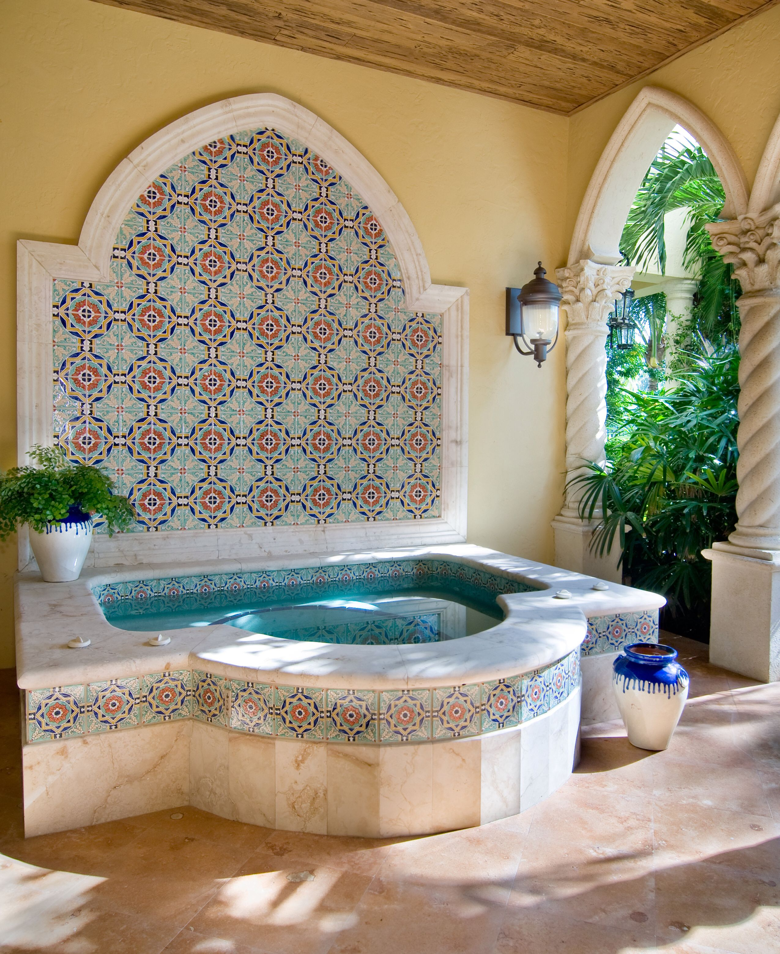 Spanish Decorative Wall Tiles So In Love With This Fountain Shaped Spa The Beautiful Hand