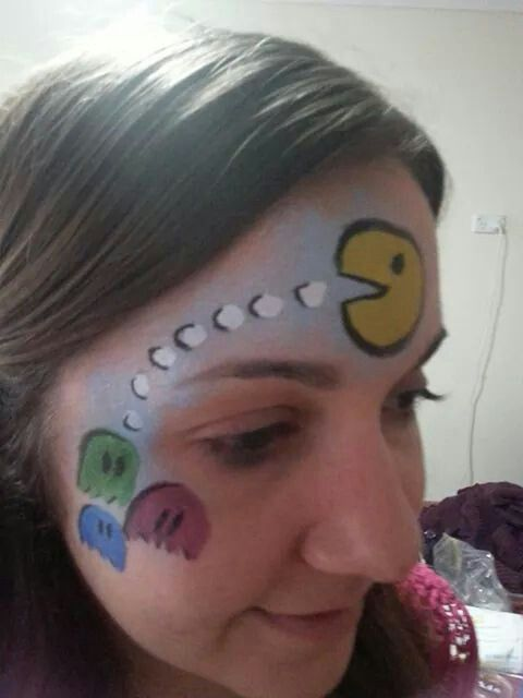 Pacman Face Painting Kids Face Paint Carnival Face Paint